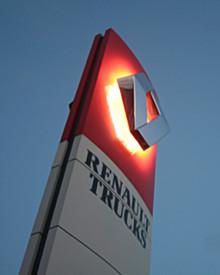 Renault Trucks verlichte totem