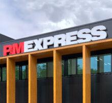 P&M Express gevelreclame